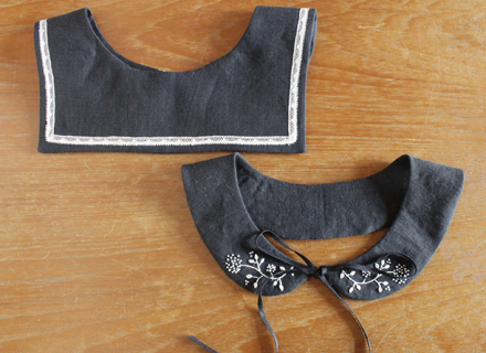 刺繍糸やレースはキットに入ってません。