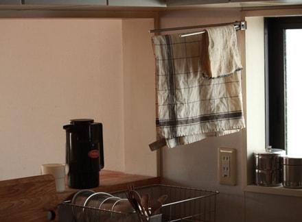 キッチンに掛けられたパルマ